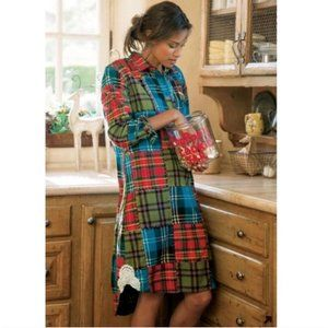 Soft Surroundings Highland Plaid Flannel Tunic PS